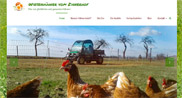 Rosenhof Marketing - Referenzen - Wiesenhühner Zinnerhof - Hühnermobil Familie Lührs