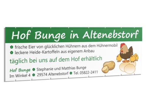 Banner und Anzeigengestaltung für Hof Bunge
