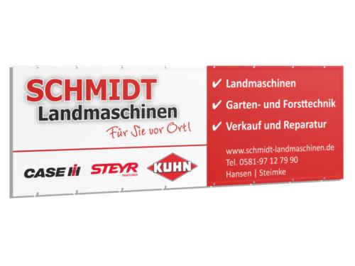 Werbebanner für Schmidt Landmaschinen